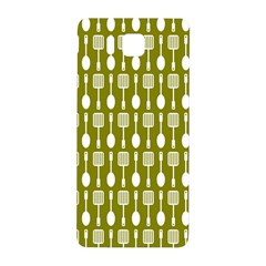 Olive Green Spatula Spoon Pattern Samsung Galaxy Alpha Hardshell Back Case by creativemom