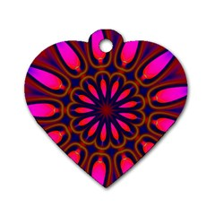 Kaleido Fun 06 Dog Tag Heart (two Sides) by MoreColorsinLife