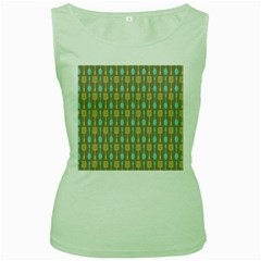Spatula Spoon Pattern Women s Green Tank Tops by creativemom