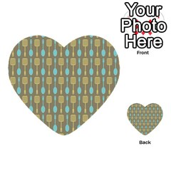 Spatula Spoon Pattern Multi Purpose Cards (heart)  by creativemom
