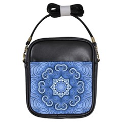 Awesome Kaleido 07 Blue Girls Sling Bags by MoreColorsinLife
