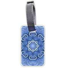 Awesome Kaleido 07 Blue Luggage Tags (one Side)  by MoreColorsinLife