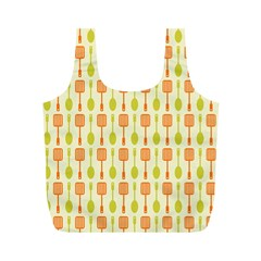 Spatula Spoon Pattern Full Print Recycle Bags (m)  by creativemom