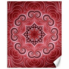 Awesome Kaleido 07 Red Canvas 16  X 20   by MoreColorsinLife