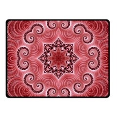Awesome Kaleido 07 Red Fleece Blanket (small) by MoreColorsinLife