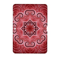 Awesome Kaleido 07 Red Samsung Galaxy Tab 2 (10 1 ) P5100 Hardshell Case  by MoreColorsinLife