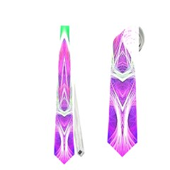 Kaleido Art, Pink Fractal Neckties (two Side)  by MoreColorsinLife