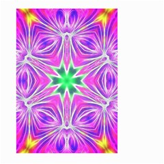 Kaleido Art, Pink Fractal Large Garden Flag (two Sides) by MoreColorsinLife