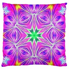 Kaleido Art, Pink Fractal Large Flano Cushion Cases (two Sides)