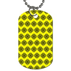 Abstract Knot Geometric Tile Pattern Dog Tag (two Sides)