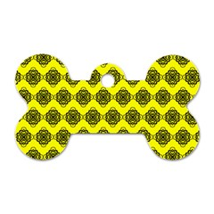 Abstract Knot Geometric Tile Pattern Dog Tag Bone (one Side) by creativemom