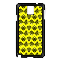 Abstract Knot Geometric Tile Pattern Samsung Galaxy Note 3 N9005 Case (black) by creativemom