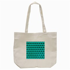 Abstract Knot Geometric Tile Pattern Tote Bag (cream)  by creativemom