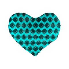 Abstract Knot Geometric Tile Pattern Standard 16  Premium Heart Shape Cushions by creativemom
