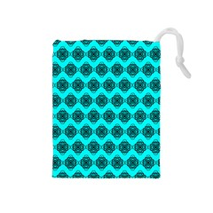 Abstract Knot Geometric Tile Pattern Drawstring Pouches (medium)  by creativemom