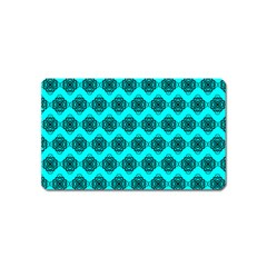 Abstract Knot Geometric Tile Pattern Magnet (name Card) by creativemom