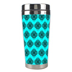 Abstract Knot Geometric Tile Pattern Stainless Steel Travel Tumblers by creativemom