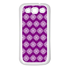 Abstract Knot Geometric Tile Pattern Samsung Galaxy S3 Back Case (white) by creativemom