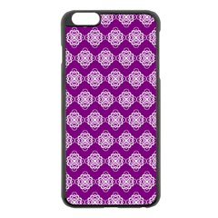 Abstract Knot Geometric Tile Pattern Apple Iphone 6 Plus Black Enamel Case by creativemom