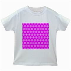 Abstract Knot Geometric Tile Pattern Kids White T Shirts