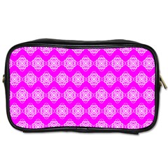Abstract Knot Geometric Tile Pattern Toiletries Bags by creativemom