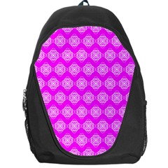 Abstract Knot Geometric Tile Pattern Backpack Bag by creativemom