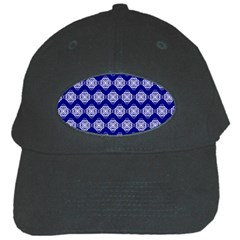 Abstract Knot Geometric Tile Pattern Black Cap