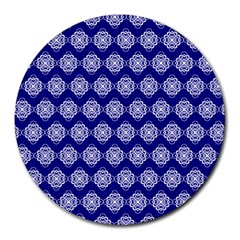 Abstract Knot Geometric Tile Pattern Round Mousepads