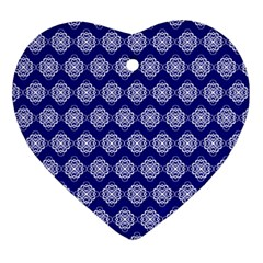 Abstract Knot Geometric Tile Pattern Ornament (Heart)