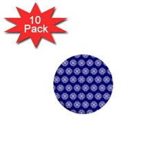 Abstract Knot Geometric Tile Pattern 1  Mini Buttons (10 pack)