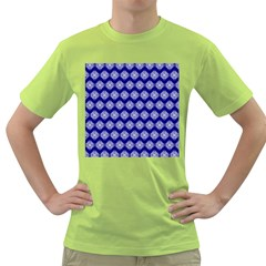 Abstract Knot Geometric Tile Pattern Green T-Shirt