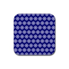 Abstract Knot Geometric Tile Pattern Rubber Coaster (Square)