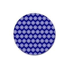 Abstract Knot Geometric Tile Pattern Magnet 3  (Round)