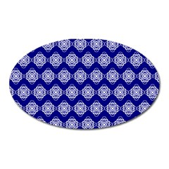 Abstract Knot Geometric Tile Pattern Oval Magnet