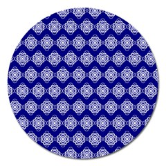 Abstract Knot Geometric Tile Pattern Magnet 5  (Round)