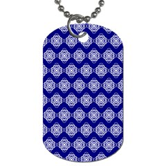 Abstract Knot Geometric Tile Pattern Dog Tag (One Side)