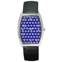 Abstract Knot Geometric Tile Pattern Barrel Metal Watches