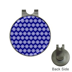 Abstract Knot Geometric Tile Pattern Hat Clips with Golf Markers