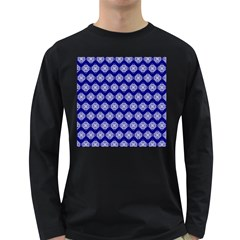 Abstract Knot Geometric Tile Pattern Long Sleeve Dark T-Shirts