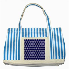 Abstract Knot Geometric Tile Pattern Striped Blue Tote Bag