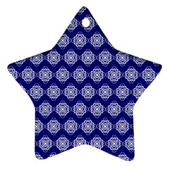 Abstract Knot Geometric Tile Pattern Star Ornament (Two Sides)