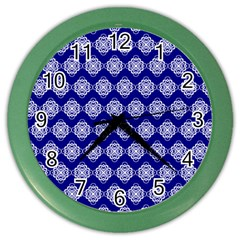 Abstract Knot Geometric Tile Pattern Color Wall Clocks