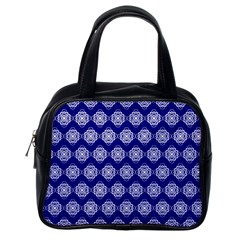 Abstract Knot Geometric Tile Pattern Classic Handbags (One Side)
