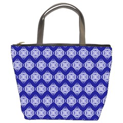Abstract Knot Geometric Tile Pattern Bucket Bags