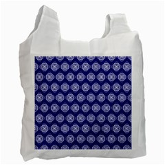 Abstract Knot Geometric Tile Pattern Recycle Bag (Two Side)