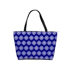 Abstract Knot Geometric Tile Pattern Shoulder Handbags