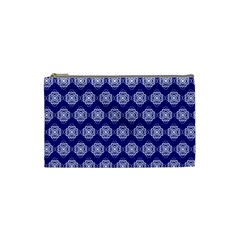 Abstract Knot Geometric Tile Pattern Cosmetic Bag (Small)