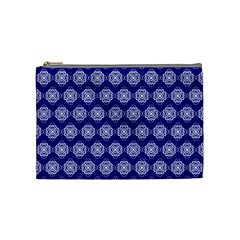 Abstract Knot Geometric Tile Pattern Cosmetic Bag (Medium)