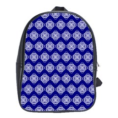 Abstract Knot Geometric Tile Pattern School Bags(Large)