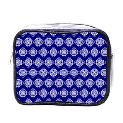 Abstract Knot Geometric Tile Pattern Mini Toiletries Bags